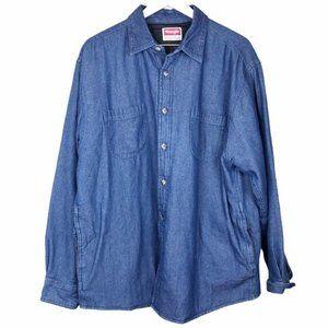 Wrangler Premium Quality Men's Quilted Denim Shirt